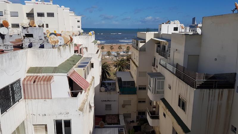 Вид на океан с нашей крыши